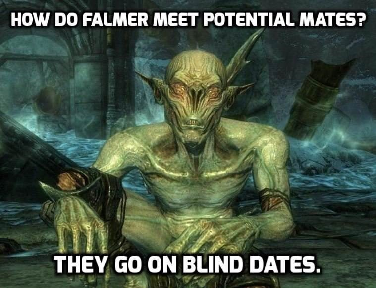Action-adventure game - HOW DO FALMER MEET POTENTIAL MATES? THEY GO ON BLIND DATES.