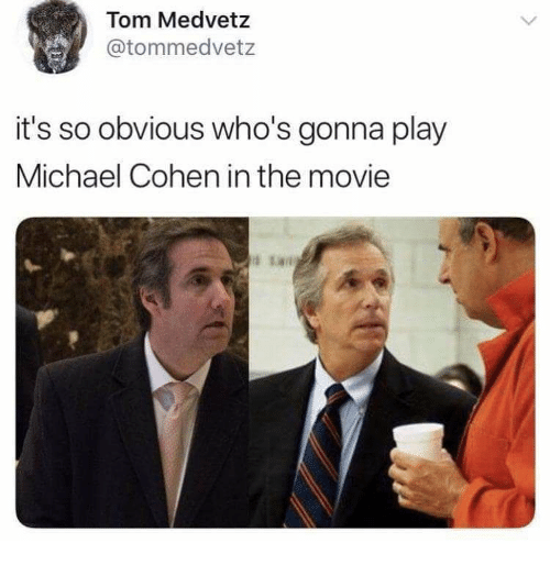 meme about Michael Cohen looking like Barry Zuckerkorn from Arrested Development