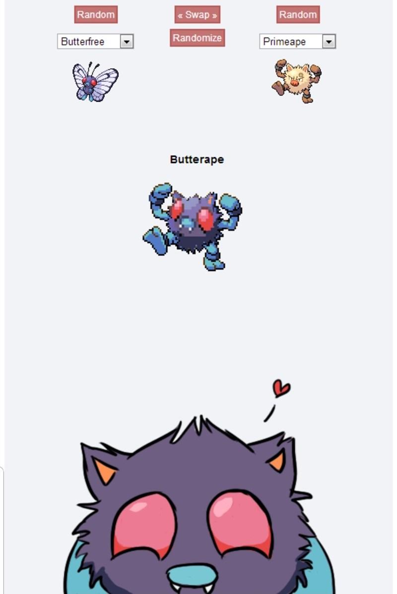 pokemon meme - Cartoon - Swap Random Random Randomize Primeape Butterfree Butterape