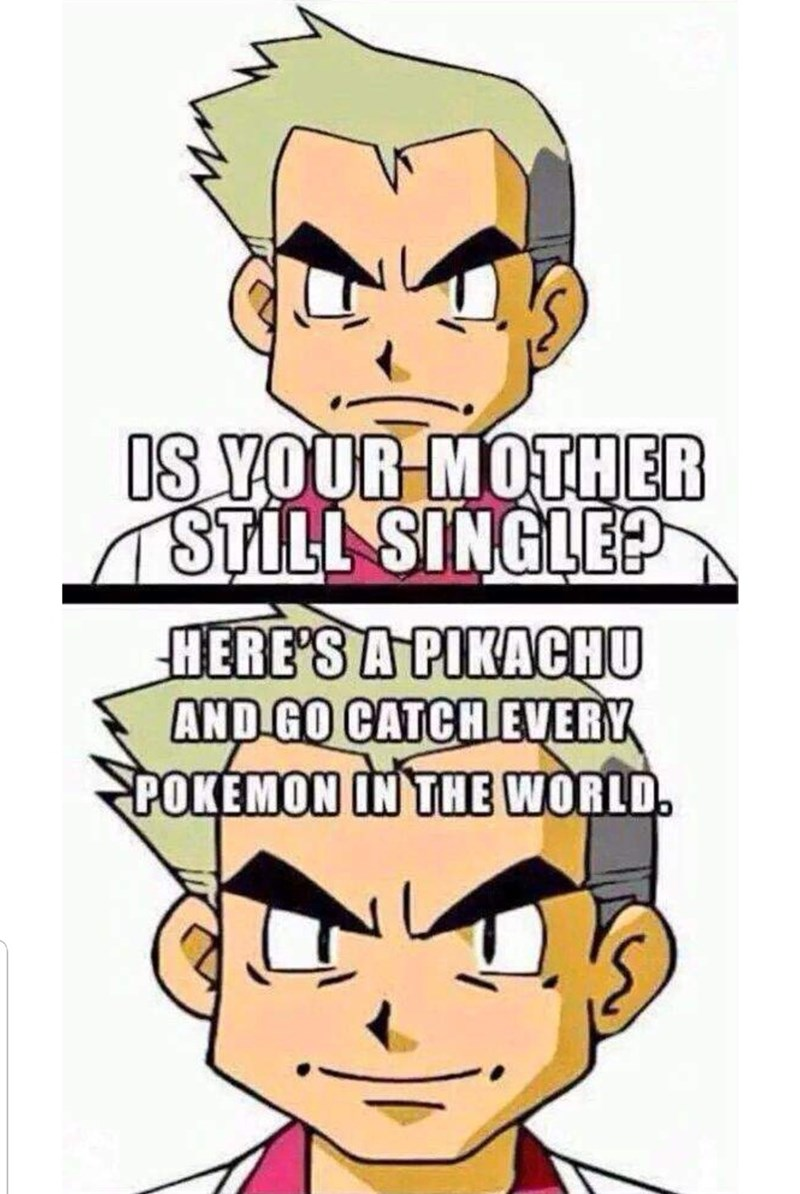 pokemon meme - Cartoon - IS YOUR MOTHER STILL SINGLE? HERE'S A PIKACHU AND GO CATCH EVERY POKEMON IN THE WORLD