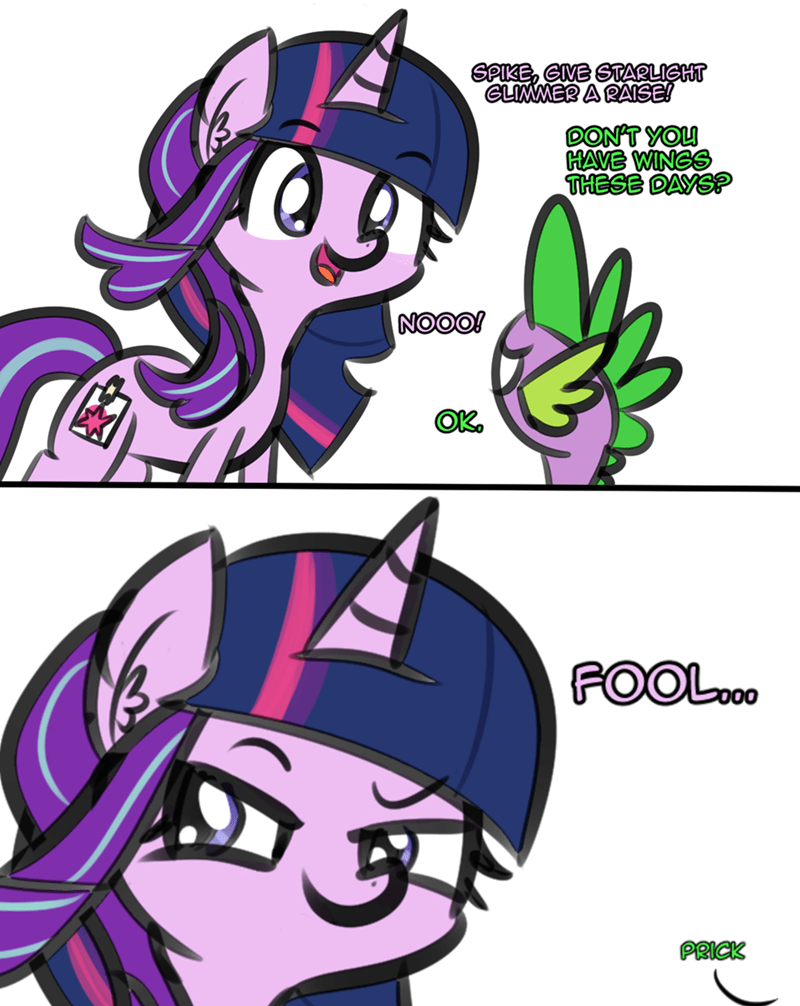 spike starlight glimmer artik comic - 9206258176