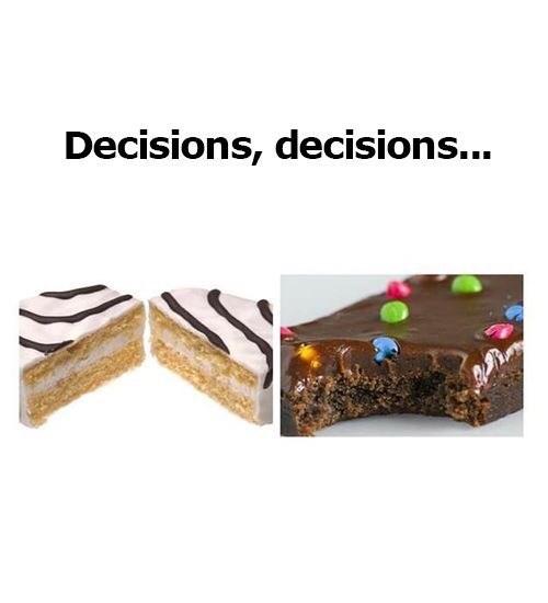 Food - Decisions, decisions...