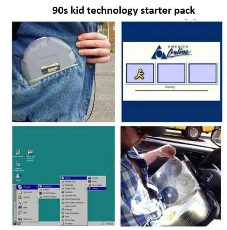 Vehicle door - 90s kid technology starter pack AMENCA haline Daing