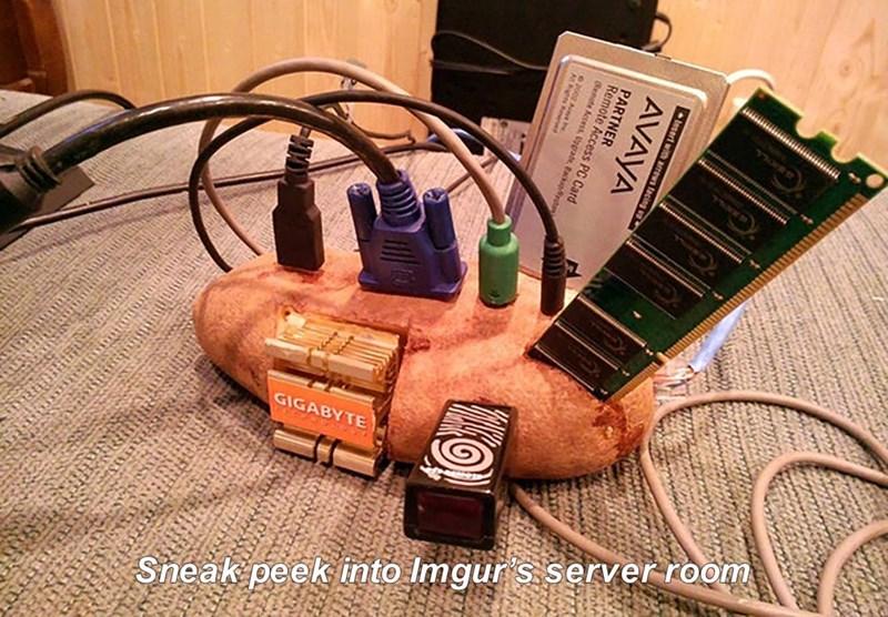 meme about imgur's server rooms