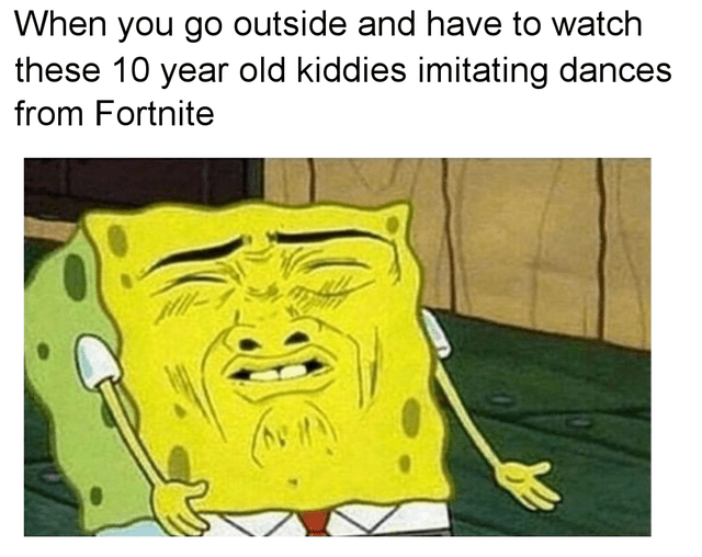 funny meme about fortnite dances
