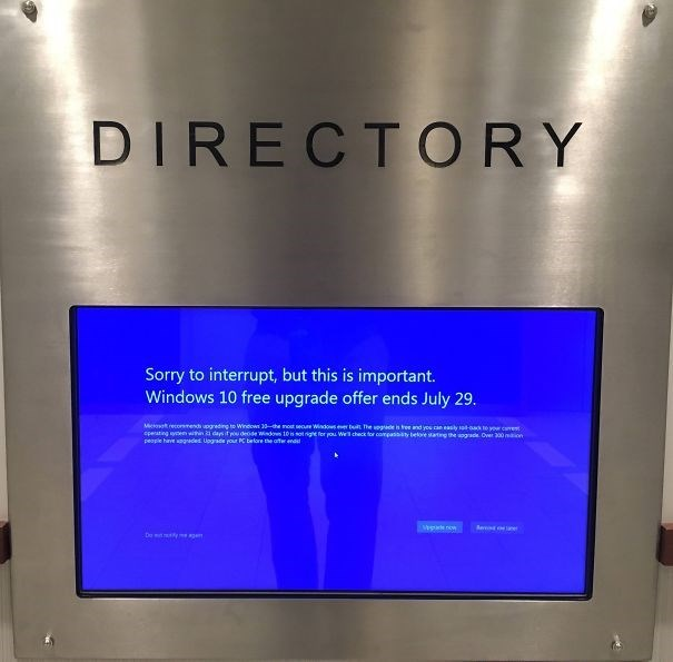 Directory asking for windows update