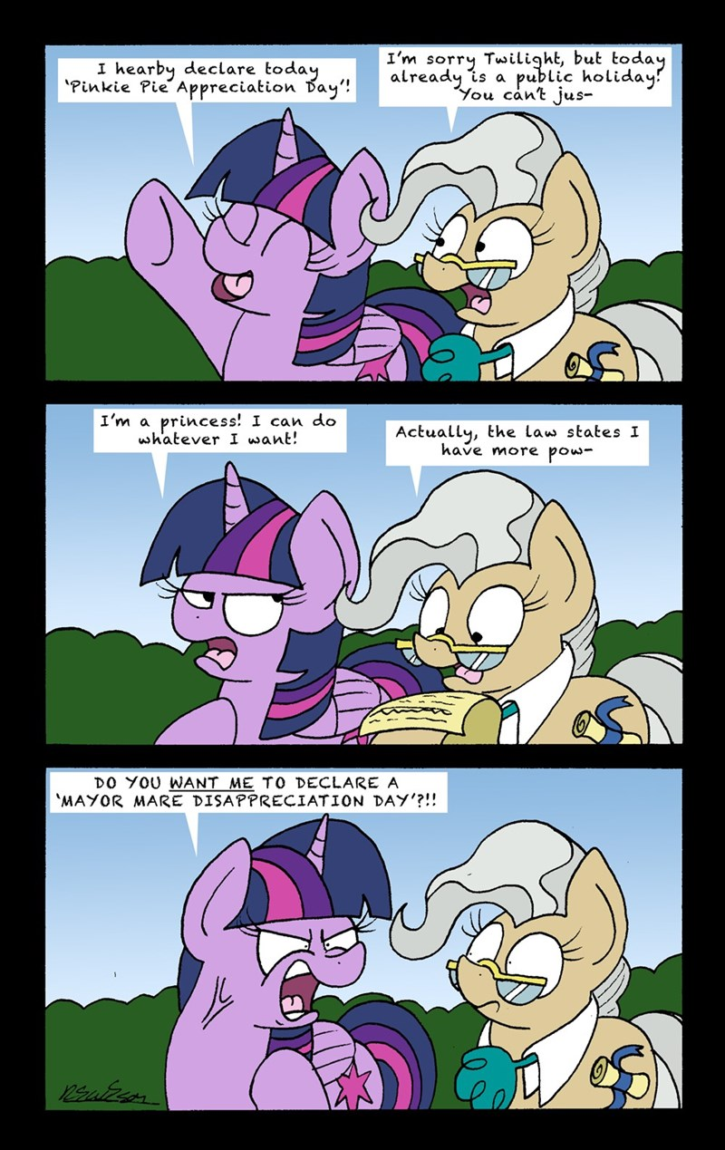 bob the dalek twilight sparkle yakity sax comic mayor mare - 9207005184