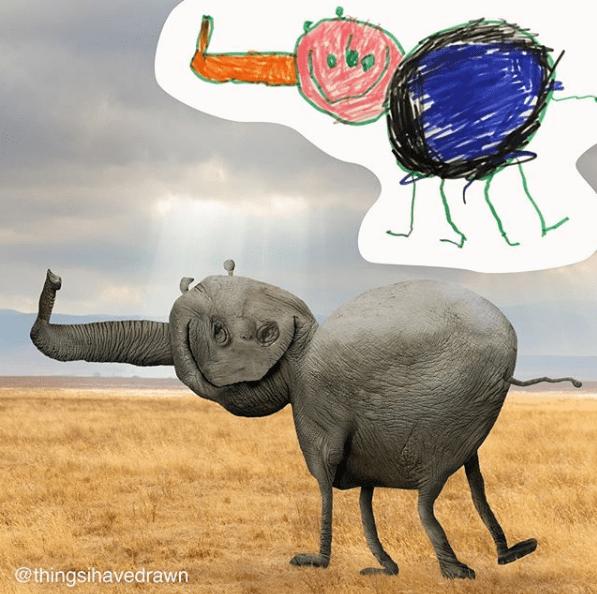 Elephant - @thingsihavedrawn