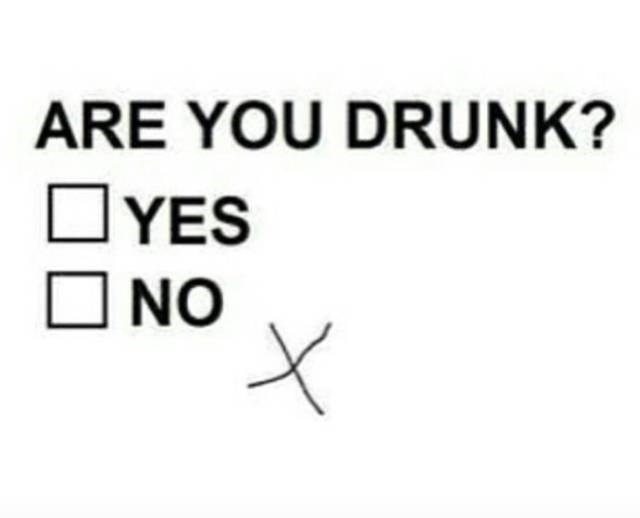 meme about being so drunk you can't check a box