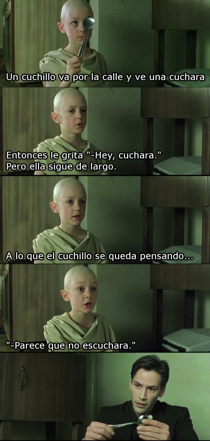 chiste de la cuchara en the matrix