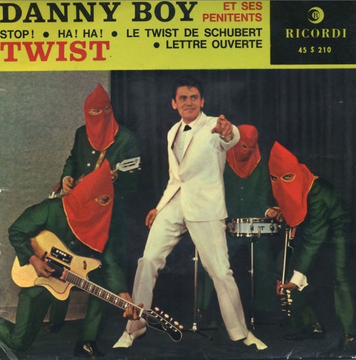 Music - DANNY BOY ET SES PENITENTS LE TWIST DE SCHUBERT LETTRE OUVERTE STOP! RICORDI HA! HA! TWIST 45 S 210