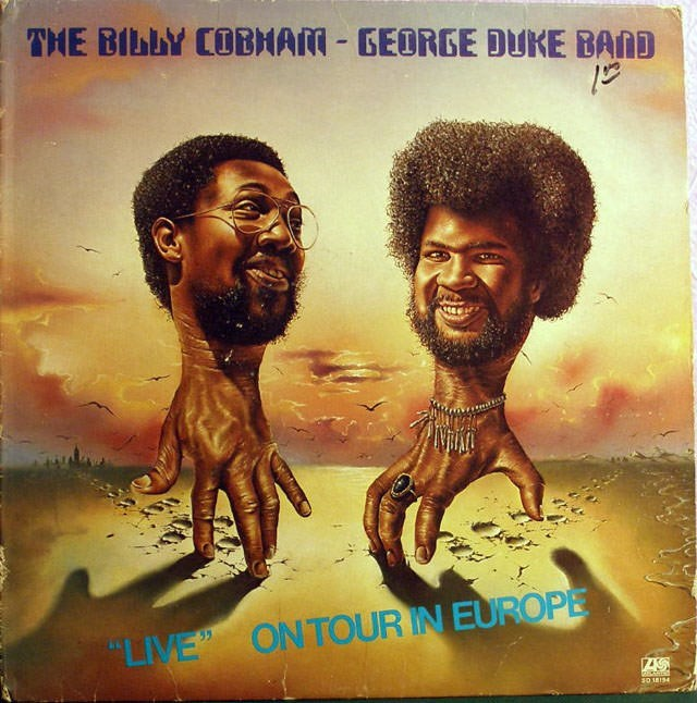 "Album cover - THE BILLY COBMAM GEORGE DUKE BAND ON TOUR IN EUROPE ""LIVE S0 18194"