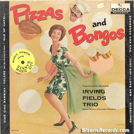 Retro style - BrZAS Bongos DECCA RECORDS and POWER ROM MUSIC Popular talian Metedies IRVING FIELDS TRIO Piano Solos with Latin Rhythm BizarreRecords.com EL 4173 SO BAY I LOVE MUSIC