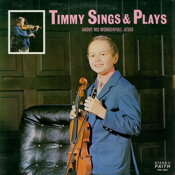 Album cover - TIMMY SINGS& PLAYS ABOUT HIS WONDERFULL JESUS STEREO FAITH FRS 1020