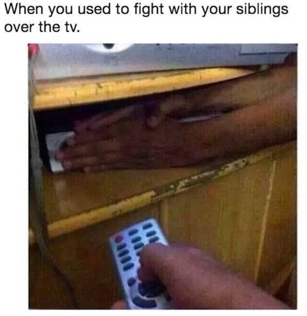 meme - Hardwood - When you used to fight with your siblings over the tv