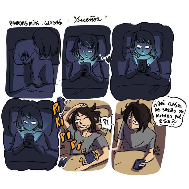 cuando te duermes viendo el celular