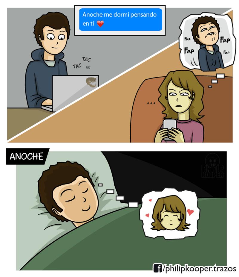 cuando te duermes pensando en tu novia