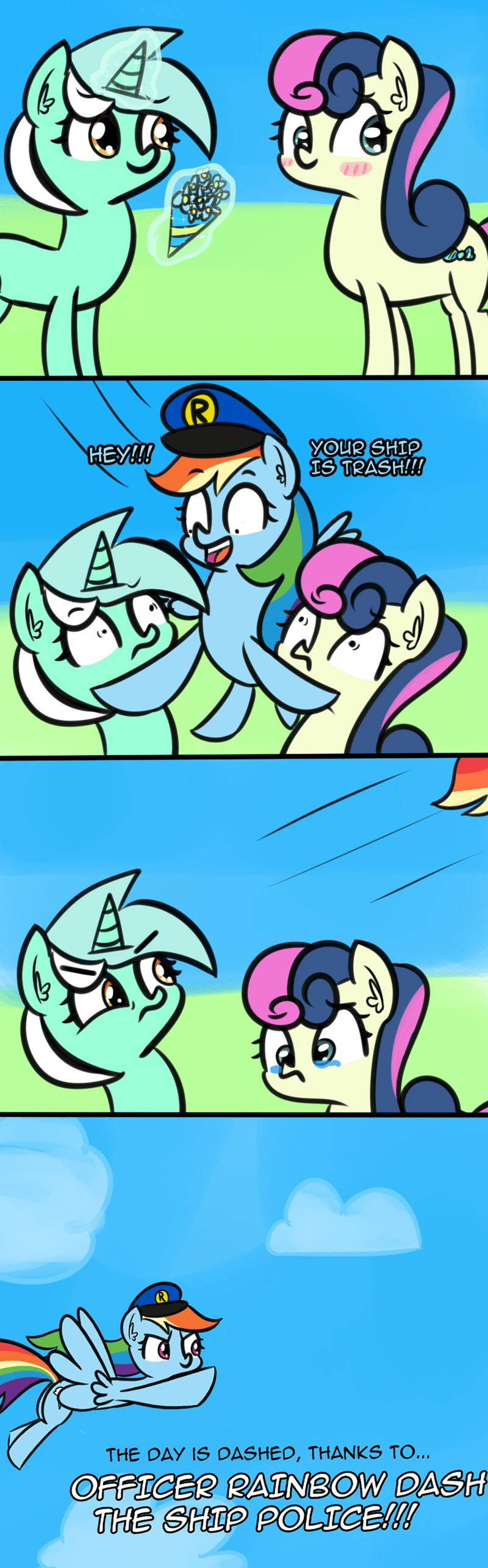 shipping lyra heartstrings artik comic bon bon rainbow dash - 9207964928
