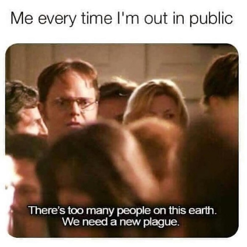 Funny meme about the office, dwight schrute, new plague.