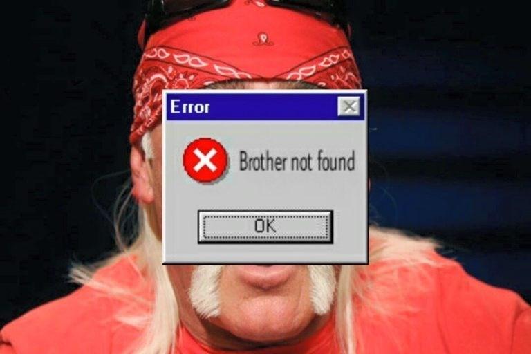 hulk hogan meme - Outerwear - Error X X Brother not found OK