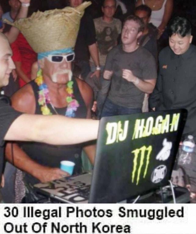 hulk hogan meme - Photo caption - DJ HO.GAN 30 Illegal Photos Smuggled Out Of North Korea