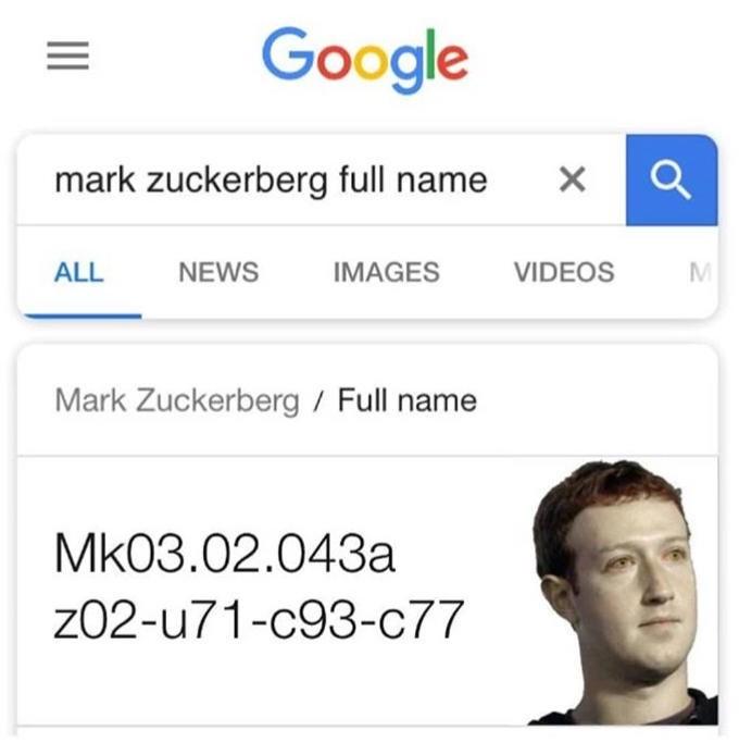 celeb real name - Text - Google mark zuckerberg full name ALL NEWS IMAGES VIDEOS Mark Zuckerberg / Full name Mk03.02.043a z02-u71-c93-c77 X