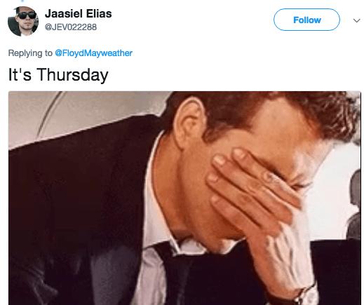 Skin - Jaasiel Elias Follow @JEV022288 Replying to @Floyd Mayweather It's Thursday