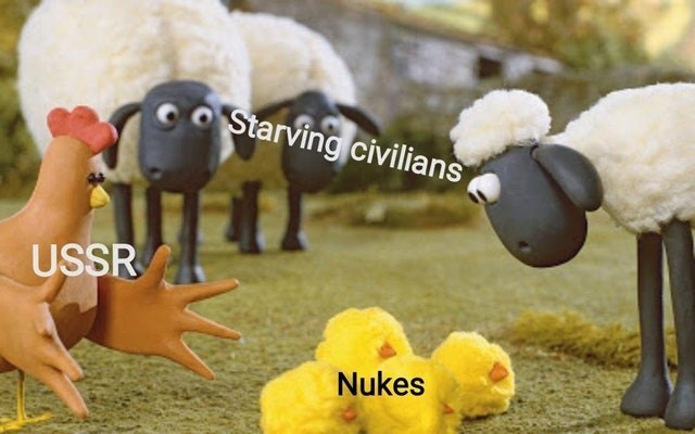 Sheep - COStarving civilians USSR Nukes