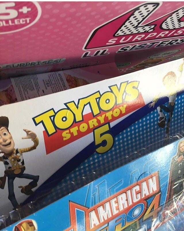 Toy - 5t OLLECT SURPRTSES SURPRIS ΓΟΥΤΟΥ TOYTOYS STORYTOY 5% AMERICAN ADVERTENC