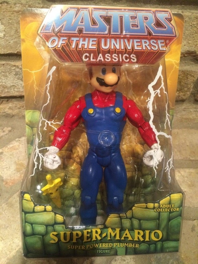 Hero - MASTERS OF THE UNIVERSE CLASSICS ADULT COLLECTOR SUPER MARIO SUPER POWERED PLUMBER FIGURE