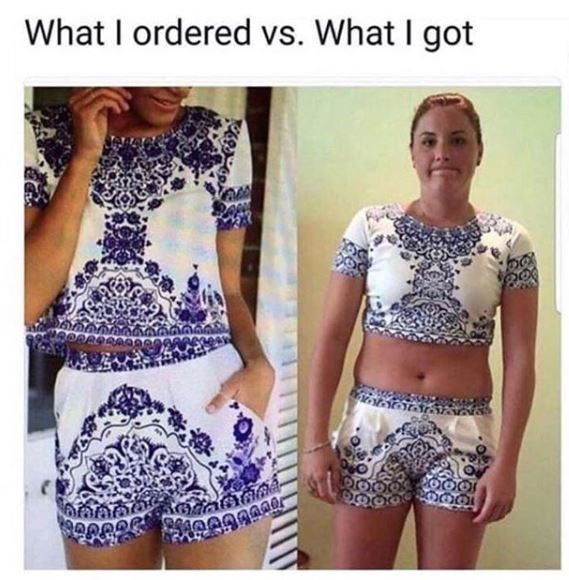 Clothing - What I ordered vs. What I got