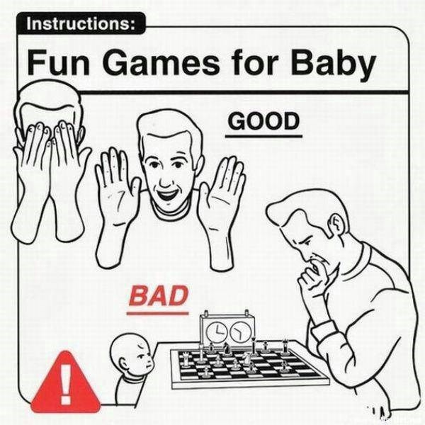 Text - Instructions: Fun Games for Baby GOOD BAD LO