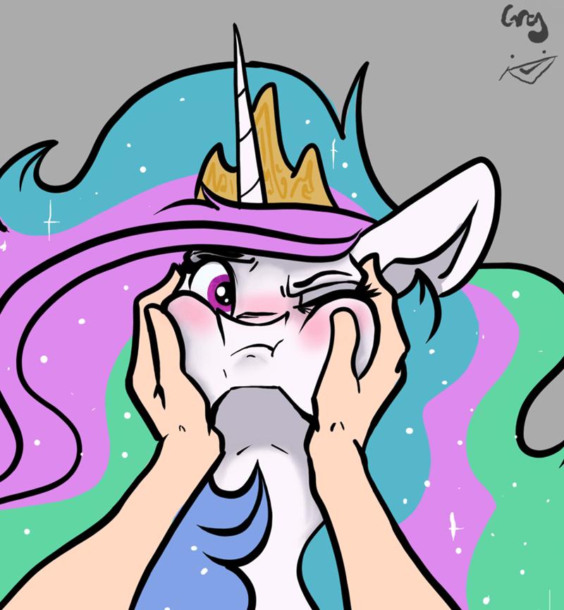 princess celestia greyscale - 9209611264