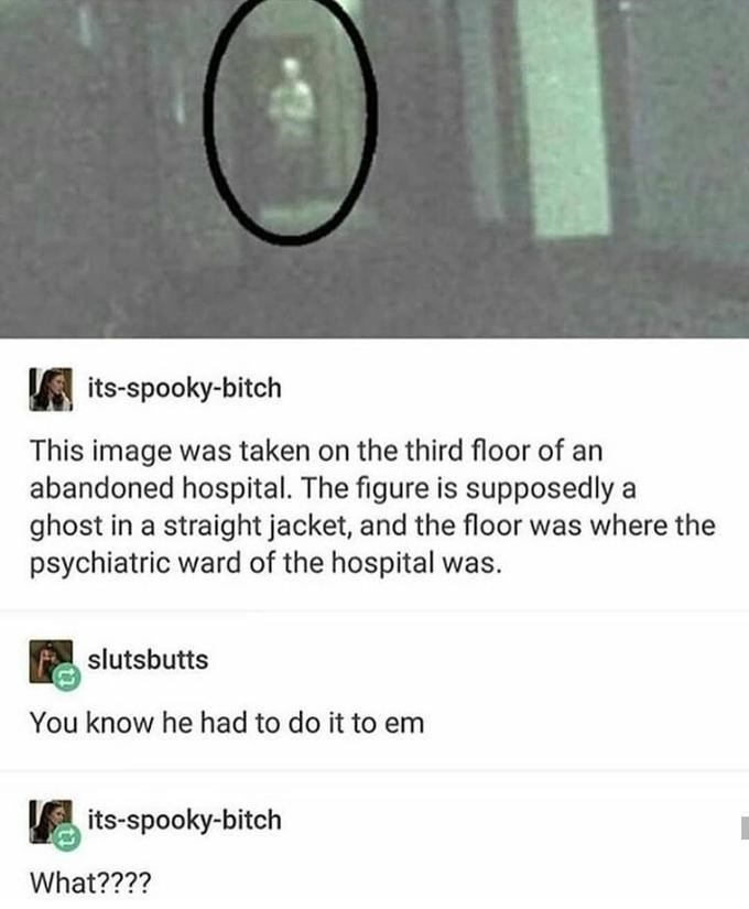 You know I had to do it to em meme with ghost caught on camera
