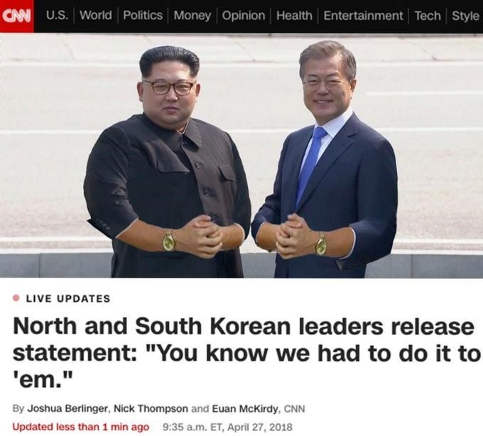You know I had to do it to em meme about the Inter Korean Summit
