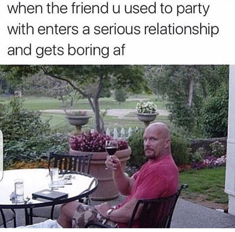 thirsty thursday meme about drinking alone when your friends are in relationships