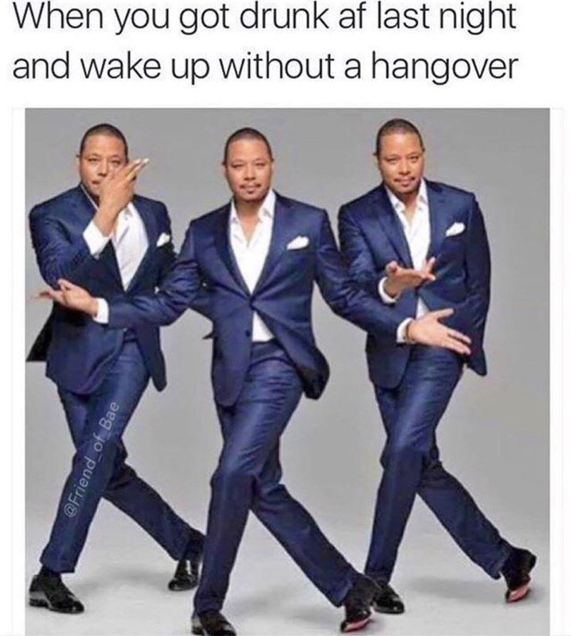 thirsty thursday meme about not waking up with a hangover