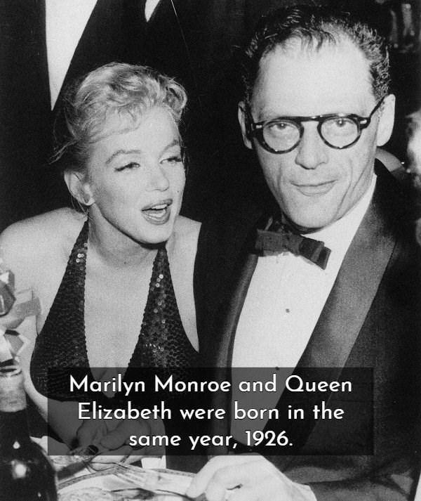 Eyewear - Marilyn Monroe and Queen Elizabeth were born in the same year, 1926.