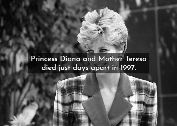 Hair - Princess Diana and Mother Teresa died just days apart in 1997.