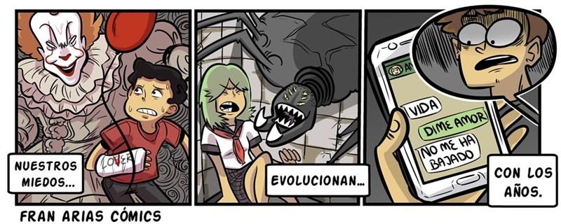 evolucion de los miedos segun FranAriasComics