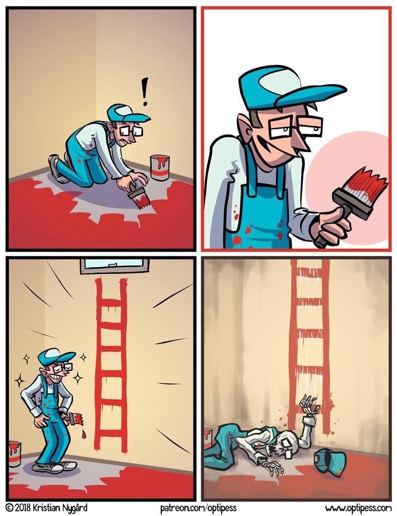 cuando pintas una escalera al cielo
