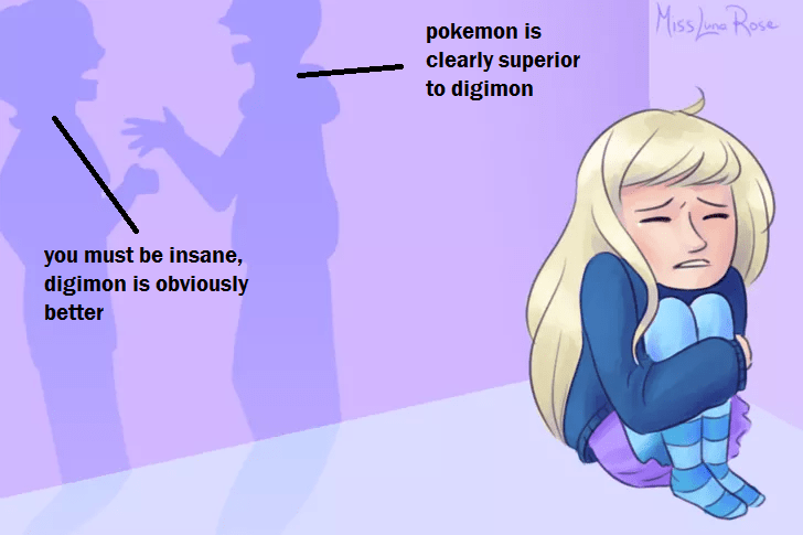 wikihow meme - Cartoon - Miss Lane Rove pokemon is clearly superior to digimon you must be insane, digimon is obviously better /0
