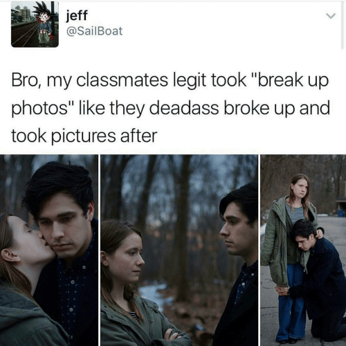 tweet about couple doing a break up photoshoot