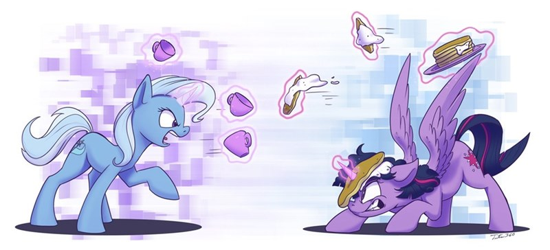 the great and powerful trixie twilight sparkle tsitra360 Memes teacups pancakes - 9211483648