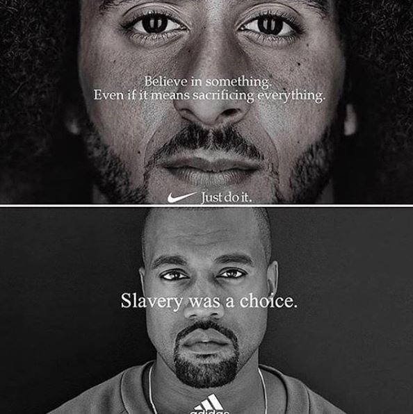 Face - Believe in something Even if it means sacrificing everything. Just do it. Slavery was a choice. adida