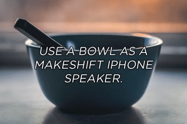 Product - USE A BOWL AS A MAKESHIFT IPHONE SPEAKER.
