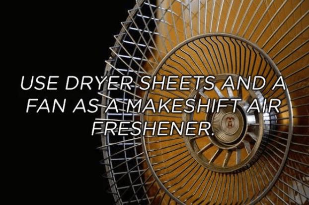 Mechanical fan - USE DRYER SHEETS AND A FAN ASAMAKESHIFT AR ERESHENER
