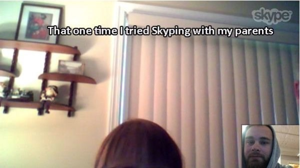 Window covering - skype That one time I tried Skyping with my parents