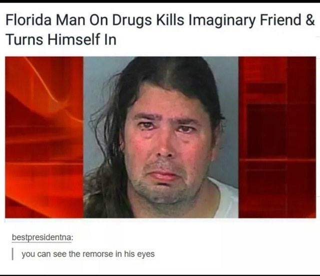 Funny meme about flordia man.