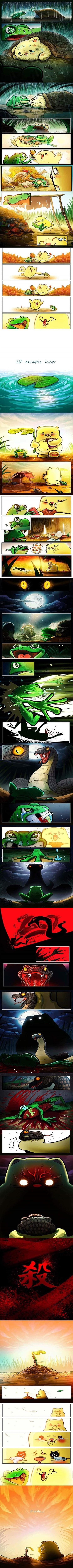 historia triste de una amiga de rana